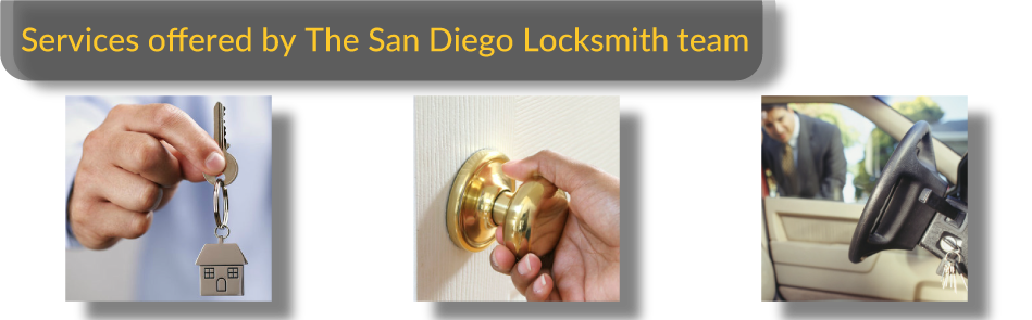 The variety of services offered by The San Diego Locksmith Team