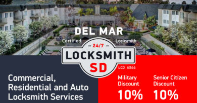 Del Mar Locksmith Services in San Diego County