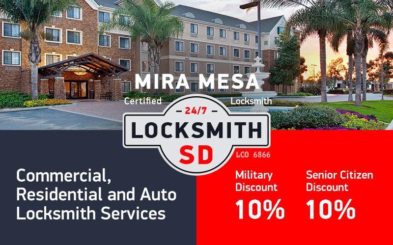 Mira Mesa Locksmith Services in San Diego County
