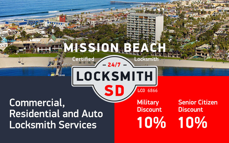 Mission Beach Locksmith Services in San Diego County
