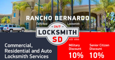 Rancho Bernardo Locksmith Services in San Diego County