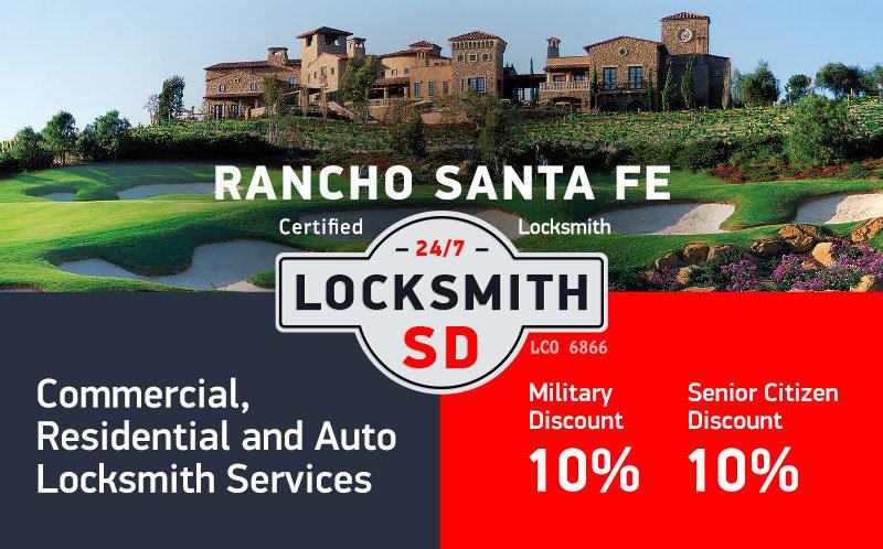 Rancho Santa Fe Locksmith Services in San Diego County