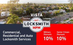 Vista Locksmith Services in San Diego County