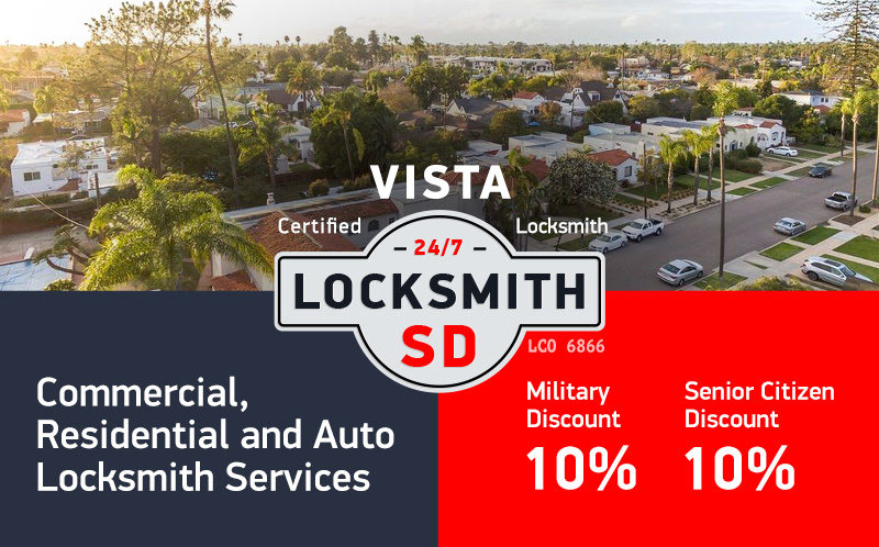 Vista Locksmith Services in San Diego County