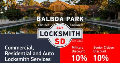 Balboa Park Locksmith Services in San Diego