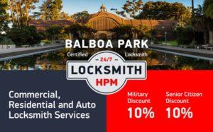 Balboa Park Locksmith Services in San Diego County