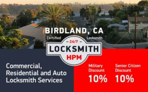 Birdland Locksmith Services in San Diego County