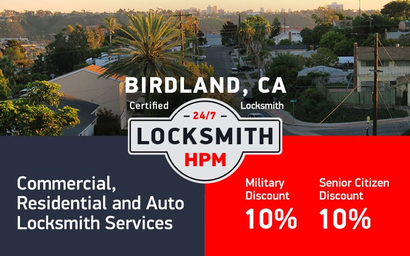 Birdland Locksmith Services in San Diego County