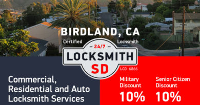 Birdland Locksmith Services in San Diego