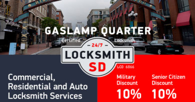 Gaslamp Quarter Locksmith Services in San Diego