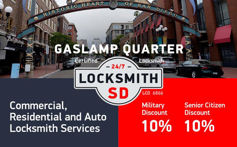 Gaslamp Quarter Locksmith Services in San Diego
