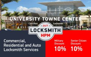 University Towne Center Locksmith Services in San Diego County