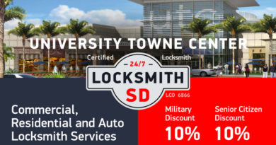 University Towne Center Locksmith Services in San Diego