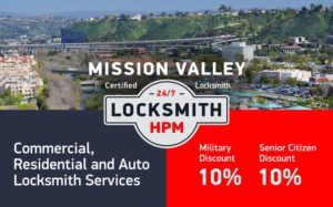 Mission Valley Locksmith Services in San Diego County