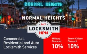 Normal Heights Locksmith Services in San Diego County