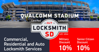 Qualcomm Stadium area Locksmith Services in San Diego