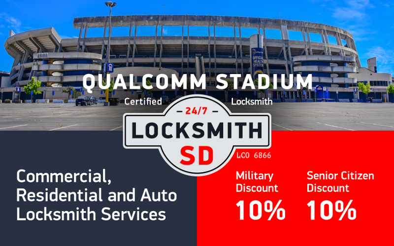 Qualcomm Stadium area Locksmith