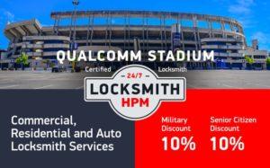 Qualcomm Stadium Locksmith Services in San Diego County
