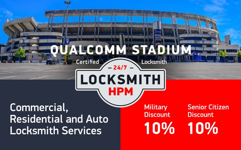 Qualcomm Stadium Locksmith Services in San Diego County