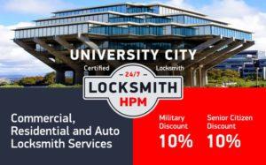 University City Locksmith Services in San Diego County