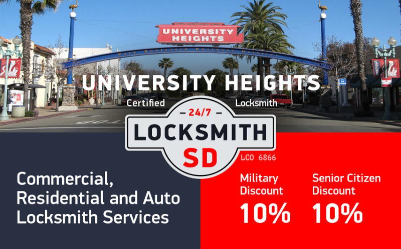 University Heights Locksmith Services in San Diego