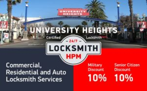 University Heights Locksmith Services in San Diego County