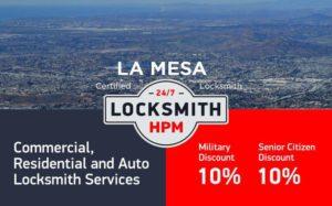 La Mesa Locksmith Services in San Diego County